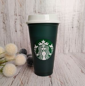STARBUCKS  2020 Reusable Deep Green Coffee Mug